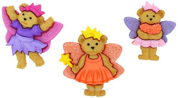Jesse James Embellishments Fairy Bears | Craftastic Cabin Inc