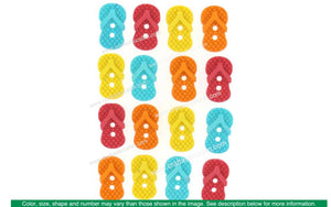 Jesse James Embellishments Sew Cute Flip Flops | Craftastic Cabin Inc