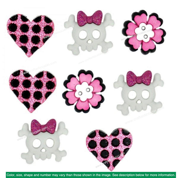 Jesse James Embellishments Girl Punk | Craftastic Cabin Inc