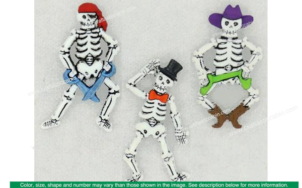 Jesse James Dress It Up Halloween Bone-ifed Characters | Craftastic Cabin Inc