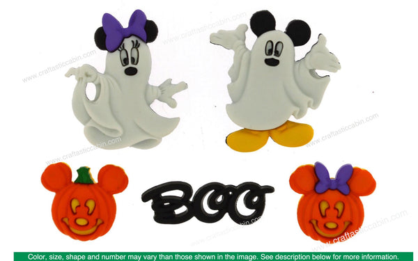 Jesse James Embellishments Disney Mickey & Minnie Ghosts | Craftastic Cabin Inc