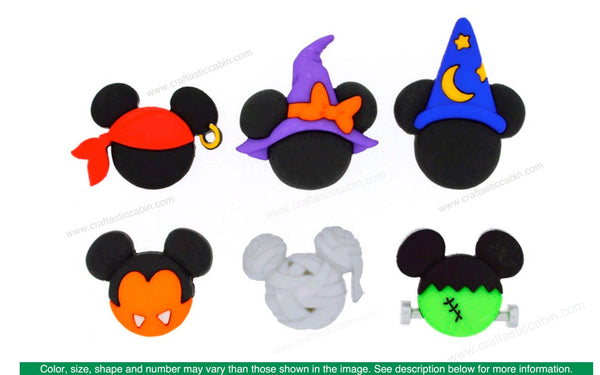 Jesse James Embellishments Disney Mickey & Minnie Halloween Hats | Craftastic Cabin Inc