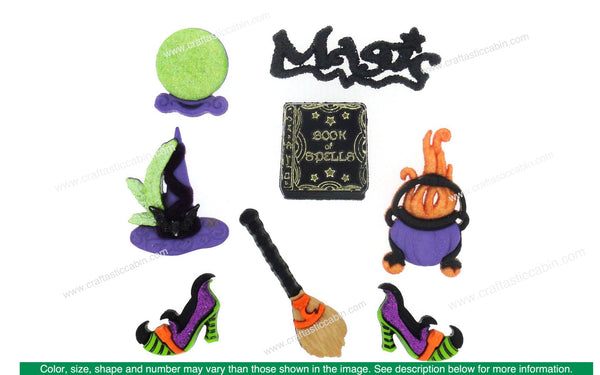 Jesse James Embellishments Halloween Collection Witches Spell | Craftastic Cabin Inc
