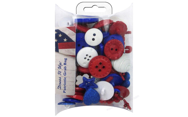 Jesse James Dress It Up Grab Bag Patriotic | Craftastic Cabin Inc