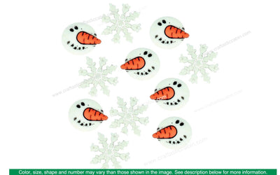 Jesse James Embellishments Holiday Snowman Faces