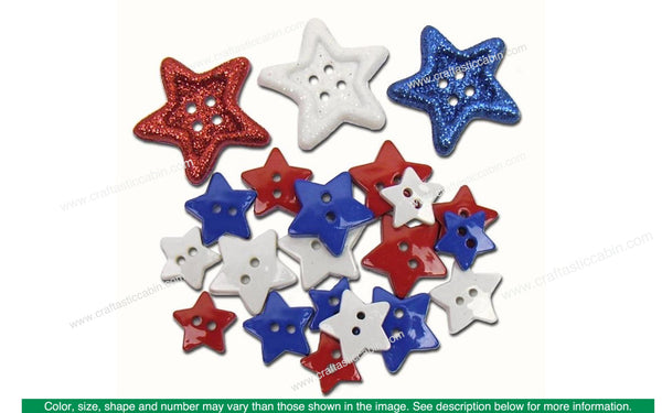 Jesse James Dress It Up Button Stars | Craftastic Cabin Inc