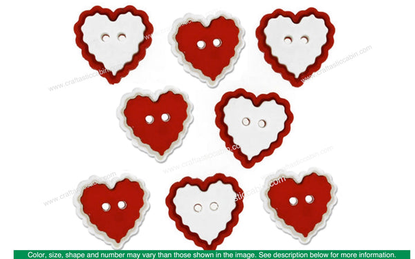 Jesse James Embellishments Valentine Heart Of Mine | Craftastic Cabin Inc