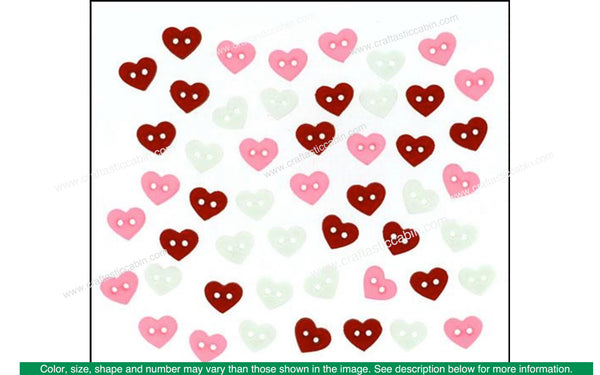 Jesse James Embellishments Valentine Micro Hearts | Craftastic Cabin Inc