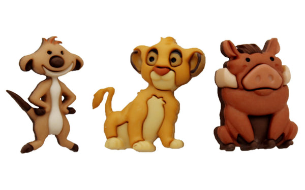 Jesse James Embellishments Disney Simba, Timon & Pumba | Craftastic Cabin Inc