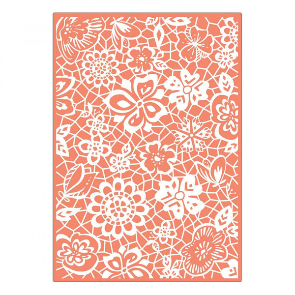 Sizzix Embossing Folders Katelyn Lizardi Textured Impressions Botanical Lace | Craftastic Cabin Inc