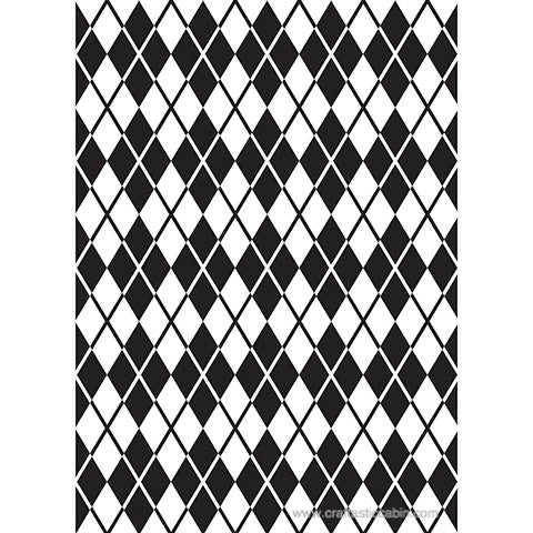 Darice® Embossing Folder ARGYLE 5X7 | Craftastic Cabin Inc