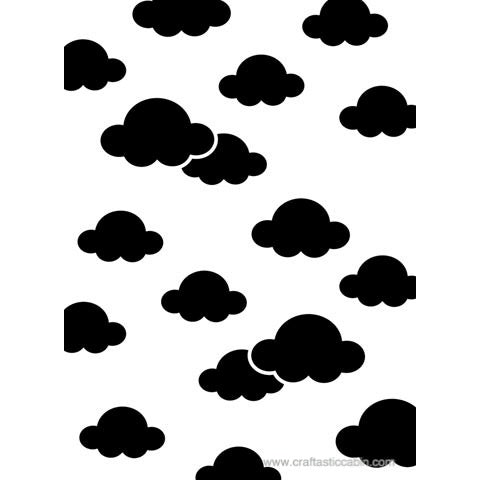 Darice® Embossing Folder CLOUDS 4.25 x 5.75 | Craftastic Cabin Inc