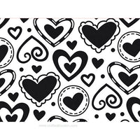 Darice® Embossing Folder Layered Hearts 4.25 x 5.75 | Craftastic Cabin Inc