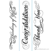 Darice® Embossing Folder Borders Set Phrases 1.5 x 5.75 3pc