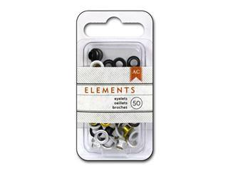American Crafts Eyelets Elements Metallics 50pc - Craftastic Cabin Inc
