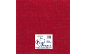 "Paper Accents Fabric Sheets - 12""x 12"" Burlap - RED"