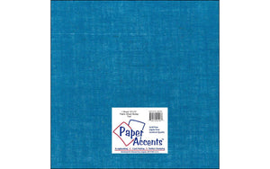 "Paper Accents Fabric Sheets - 12""x 12"" Burlap - TEAL"
