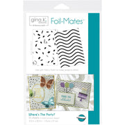 "Gina K Designs Foil-Mates Background 5.5""X8.5"" 10/Pkg - Where's The Party?"