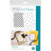 "Gina K Designs Foil-Mates Background 5.5""X8.5"" 10/Pkg - Polka Party"