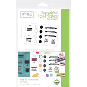 "Gina K Designs Foil-Mates Detail Sheets 5.5""X8.5"" 10/Pkg - Time to Celebrate"