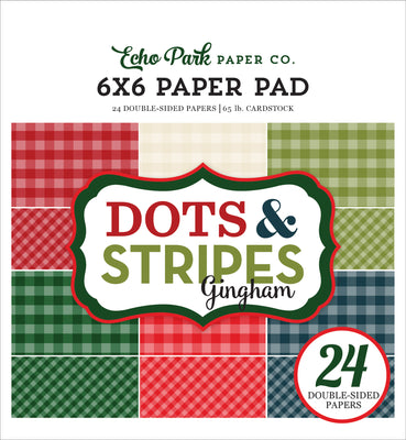 Carta Bella Collection CHRISTMAS GINGHAM Paper Pad 6