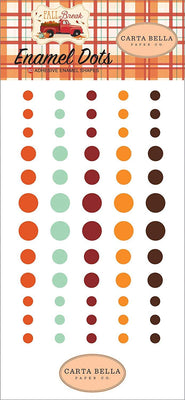 Carta Bella Adhesive Enamel Dots 60/Pkg Fall Break