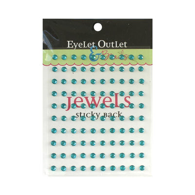 Adhesive Jewels 5mm 100/Pkg Blue
