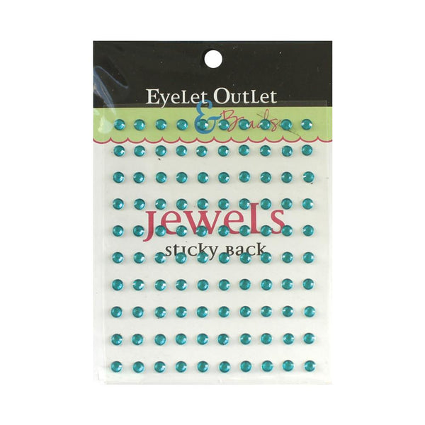Eyelet Outlet Adhesive Jewels 5mm 100/Pkg Blue | Craftastic Cabin Inc