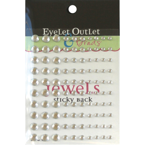 Eyelet Outlet Adhesive Jewels Multi-Size 100/Pkg Clear | Craftastic Cabin Inc