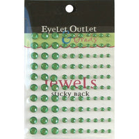 Eyelet Outlet Adhesive Jewels Multi-Size 100/Pkg Green