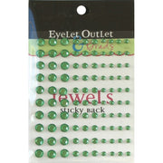 Adhesive Jewels Multi-Size 100/Pkg Green