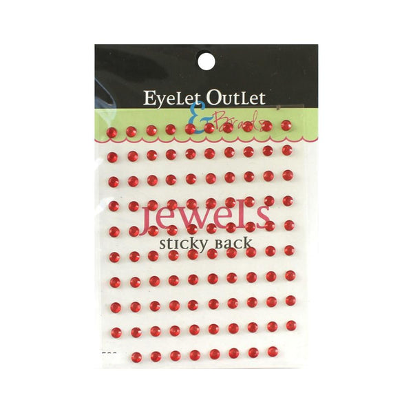 Eyelet Outlet Adhesive Jewels 5mm 100/Pkg Red | Craftastic Cabin Inc