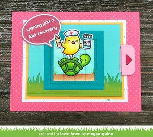 Lawn Fawn Before 'n Afters Stamps: Get Well | Craftastic Cabin Inc