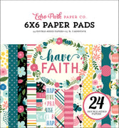 "Carta Bella HAVE FAITH Paper Pad 6""x 6"""