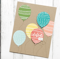 Concord & 9th - HAPPY BALLOONS DIES | Craftastic Cabin Inc