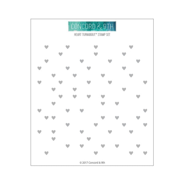 Concord & 9th Clear Stamps - Heart Turnabout™ Stamp | Craftastic Cabin Inc