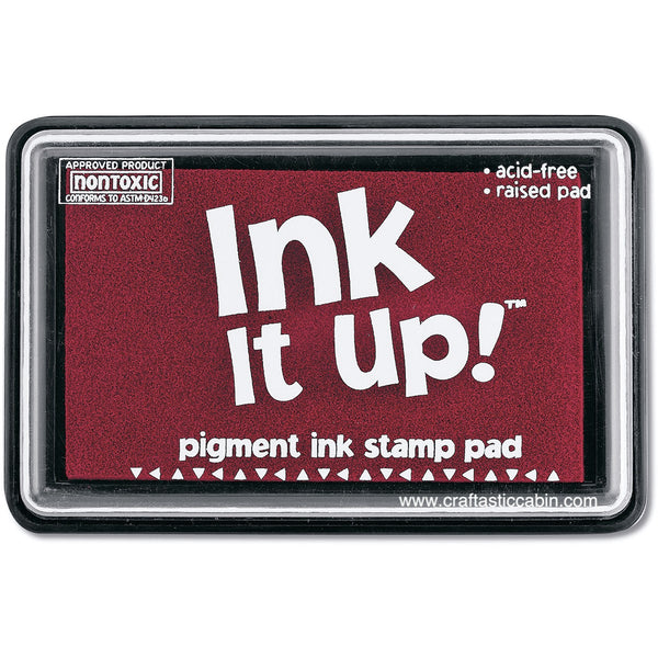 Ink It Up! Dye Based Stamp Pads - Cranberry - Craftastic Cabin Inc