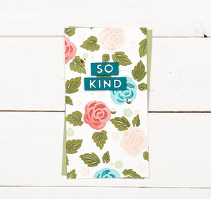 "Concord & 9th Clear Stamps 6""X8"" - KINDNESS BLOOMS TURNABOUT™ STAMP SET 
