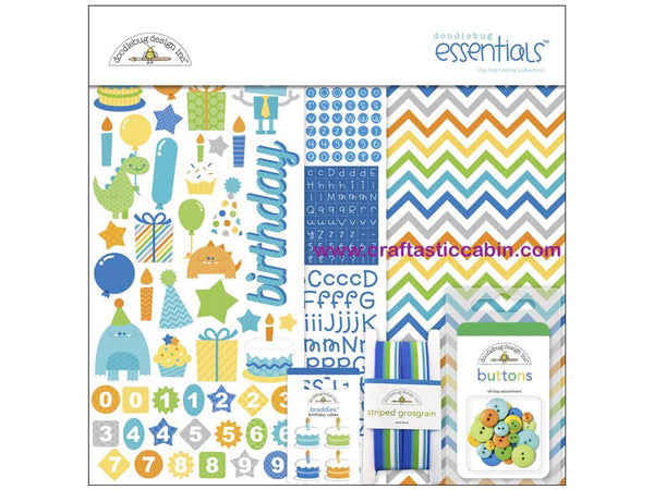 Doodlebug Kit Essentials Hip Hip Hooray 12