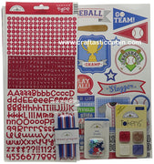 "Doodlebug Essentials Page Kit 12""X12"" Home Run"