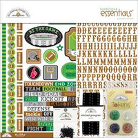 "Doodlebug Essentials Page Kit 12""X12"" Football"