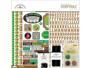 "Doodlebug Essentials Page Kit 12""X12"" Football 