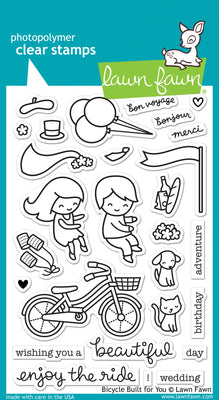 Lawn Fawn Bicycle Built For You Stamps