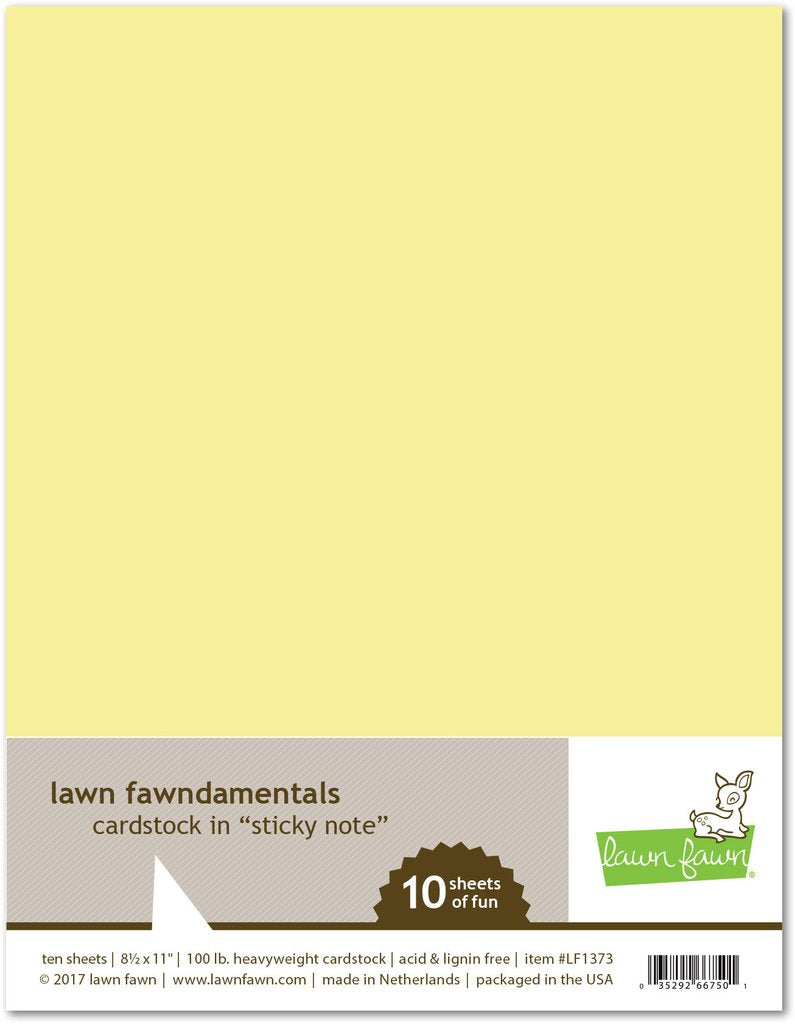 Lawn Fawn 100lb cardstock Sticky Note | Craftastic Cabin Inc