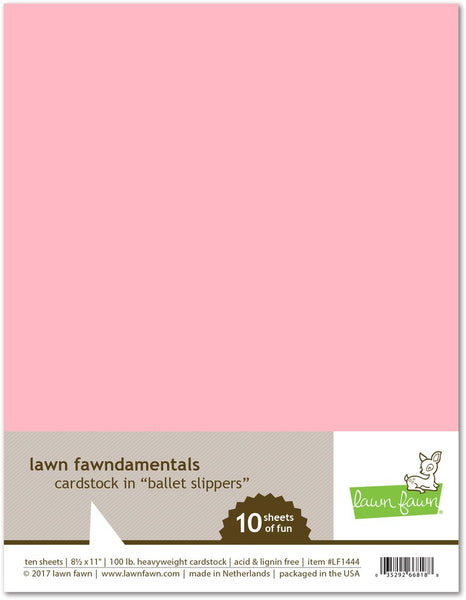 Lawn Fawn 100lb cardstock ballet slippers | Craftastic Cabin Inc