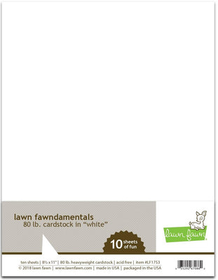 Lawn Fawn 80lb cardstock White