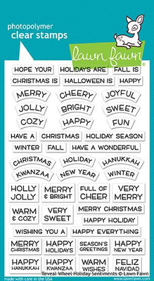 Reveal Wheel holiday sentiments stamps