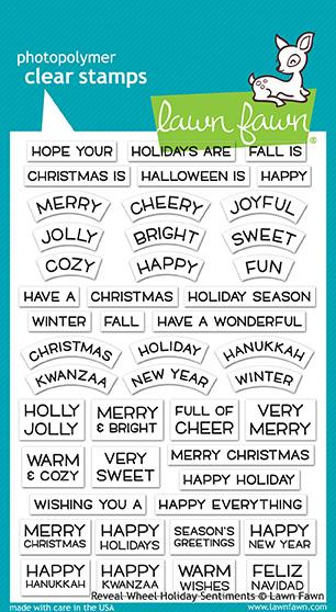 Lawn Fawn Reveal Wheel reveal wheel holiday sentiments stamps | Craftastic Cabin Inc