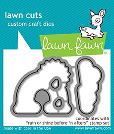 Lawn Fawn Before 'n Afters Dies: rain or shine | Craftastic Cabin Inc