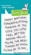 Lawn Fawn Wavy Sayings Stamps